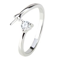 Wholesale simple ring designs for women - Simple Design 1 Piece Adjustable 925 Sterling Silver Gold Plated Ring Accessories with Zircon, Gift for Women