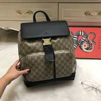 Wholesale Small Skull Rhinestones - 2018 Luxury designer New Guccx printing PU students Backpack girl younger teenager Laptop Waterproof Travel computer school Bag 180126003