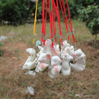 tierkreis keramik großhandel-Chinesisches Tierkreiszeichen Wasser Ocarina Kinder Geschenk Kreatives Design Keramikpfeife Mini Qntique Stil Pfeifen Viele Stile 1 15yx ZZ