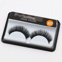 ingrosso nuovo rilievo degli occhi-30 stile Handmade Nuovo Ciglio Sotto Eye Pads Nero Lungo Spesso CrossNatural Falsi Eye Lashes Extension Donne Bellezza trucco