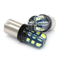Wholesale rear drive cars online - 2Pcs High Quality P21W BA15S SMD LED Auto Brake Light Rear Fog Lamp Car DRL Driving light Reverse Bulb Turn Signals