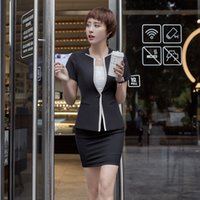 7ab495f14dcc Summer Formal Female Skirt Suits for Women Blazer and Jacket Sets Ladies  Business Suits Office Uniform Designs OL Styles
