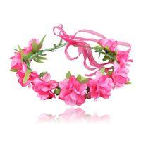 baş bantları için çiçek başları toptan satış-Düğün Garlands Gelin Kafa Çiçek Taç Çiçek Tiara Taç Plaj Başlığı Başkanı Garland Saç Çiçekler Kız Kadınlar için