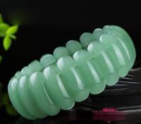 modèles de bracelet à la main achat en gros de-Les hommes et les femmes de ligne de main de Dongling jade naturel s'élargissent des bracelets de jade de bracelet vert