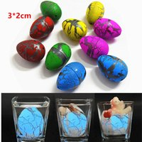 Wholesale magic gags - 012 Cute Magic Hatching Growing Dinosaur Eggs Novelty Gag Toys For Child Kids Educational Toys Gifts Add Water Growing Dinosaur