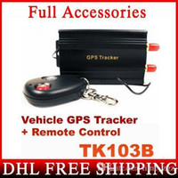 Wholesale DHL Fedex QUAD BAND GPS B TK103B GPS103 Car Drive Vehicle Realtime GPS Tracker With Remote Control