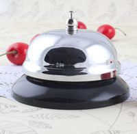 Wholesale calling bell - Hotel Service Steel Bell Call Ringer Ring Reception Butler Waiter Kitchen Restaurant Tools 8.55*5.5cm EEA351 130pcs