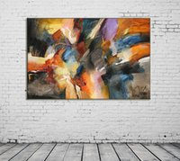 Wholesale room painting colors for sale - Group buy ZYXIAO Big Size Posters and Prints abstract colors modern Oil Painting Canvas No Frame Wall Pictures for Living Room Home Decoration ys0093