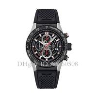 gummi chronographen uhren großhandel-Top AAA Qualität männer Sportuhren 45 MM Kautschukband Luxus Markenuhr VK Quarz Chronograph Alle Zeiger Arbeit TG Uhren