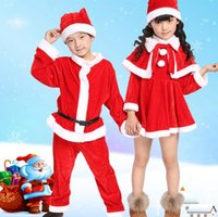 ingrosso le ragazze abiti da santa claus-Christmas Romper Boy Girl Xmas Set Bambini Christmas Dress Kid Babbo Natale Costume Cosplay Per bambini Natale Suit CCA10307 20 set