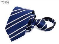 reißverschluss krawatten großhandel-Pre-gebundene Krawatte Mens Skinny Zipper Krawatten Rot Schwarz Blau Einfarbig Jacquard Dünne Schmale Bräutigam Party Kleid Krawatte