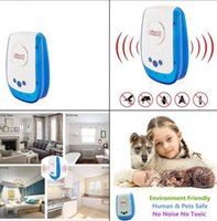 Wholesale Electronic Control Mosquitos - Ultrasonic Pest Repeller Electronic Spiders Mouse Roach Reject Human Pet Safe Pest Control Ultrasonic Repellent KKA4355