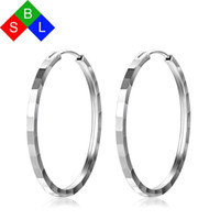 серьги из серебра 925 пробы оптовых-Red Trees  Fine Jewelry Real 925 Sterling Silver Large Hoop Earrings For Women