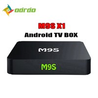 Wholesale airplay mini tv box - 2018 M9S X1 Android 6.0 Smart TV BOX 4K Amlogic S905X Quad Core Media Player Mini PC Miracast Airplay Better MXQ PRO T95Z H96 T95M S905W