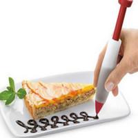 plätzchen verzieren spritze großhandel-2 Teile / satz Gebäck Creme Schokolade Dekorieren Spritze Silikonplatte Lackstift Kuchen Cookie Eis Dekorieren Stifte