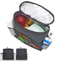 multi bolsillo colgando de almacenamiento al por mayor-Universal Auto Back Car Seat Organizador Holder Multi-Pocket Almacenamiento de viaje Keep Warm Multi-Pocket Hanging Bag