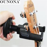 soportes para perchas al por mayor-OUNONA Guitar Suspensión de pared Soporte de montaje Soporte Estante Gancho para guitarra eléctrica / Acústica / Mandolina Ukulele