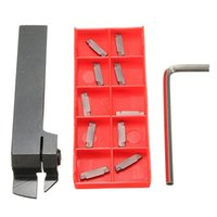 Wholesale Carbide Parts - MGEHR1616 Parting Off Turning Tool Holder with 10pcs MGMN200 Carbide Inserts Lathe Tools