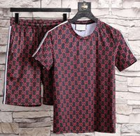 Wholesale Mens Suit Embroidery - New Summer Sport Suit Men Sportswear Skull Printed Mens Sweatshirt Clothing Set Casual T Shirt+Shorts Tracksuits 3D short