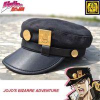 ingrosso accessori per l'animazione-Accessori Cappelli Anime Avventura bizzarra di JoJo Jotaro Kujo Joseph Army Army JOJO Cap Hat + Badge Animation around Spedizione gratuita