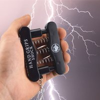 Wholesale boy jokes - Novelty Hand Grips Shock Grip Electric Shock Toy April Fools Day Gifts Funny Prank party Toys Joke Gifts Adult Toy FFA634