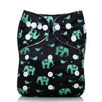 Wholesale diaper gauze - New Cloth Diaper Washable Baby Diapers Cover Waterproof Cartoon High Quality Baby Diapers Reusable Cloth Nappies