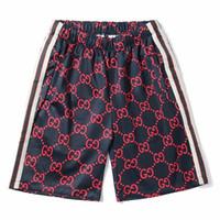 Wholesale mens sexy sports pants - 2018 New Plaid Printing Sport Pants Men Summer Sexy Mens Cotton Shorts For Sweatpants Casual Slim Fit Fashion Gym Men