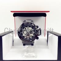Wholesale Unique Clocks - Hot JULY LONG holiday Creative INVICTA BLACK watches quartz-watch unique dial design lovers' watch leather wristwatches clock