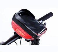 pantalla táctil a prueba de agua al por mayor-A prueba de agua ciclismo marco de la bici con accesorios de bicicleta de múltiples colores bolsa de teléfono pantalla táctil sombreado bolsas estables 19 8dh jj