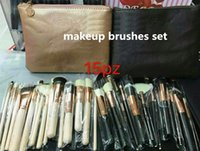 Wholesale face makeup tools - Hot Makeup Brushes Set face and eyes brushes with bag Professional Makeup Tools DHL shipping
