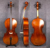 ingrosso corde del violoncello-Yinfente 4/4 5 corde Violoncello Full size Abete in acero di legno Ebano pezzi di violoncello Free bag bow Hand Made