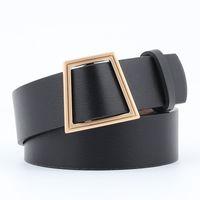 Wholesale wide belt jeans resale online - Leather Belts for women jeans pin buckle gold black luxury punk wide belt strap waistband dress wear for women