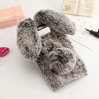 Wholesale rabbit fur note case online – custom Cute Rabbit Doll Plush Winter Case Cover for Samsung Galaxy Note Case Hairy Rabbit Fur TPU Cover For Samsung Note9 Note