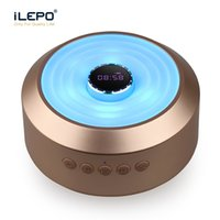 Wholesale Audio Clock - S01 Clock LED Wireless Speaker With Six Color Change Subwoofer Support TF Card Aux Portable Stereo Sound Speaker Retail Box Better Charge 3