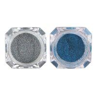 ingrosso smalto azzurro lucido-2 scatole polvere per unghie argento blu bicromato di potassio pigmento per unghie olografica laser scintillio polvere decorazione gel smalto per unghie