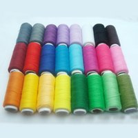 Wholesale wholesale sewing machine thread - 24 Colors 200 Yard Polyester Embroidery Sewing Threads For Hand Sewn&Machines Patchwork Sewing Threads Sewing Accessories
