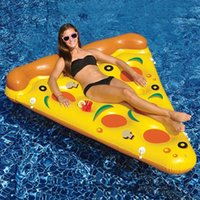 Wholesale Pool Rafts - Inflatable Pizza Float 180*145CM ECO-Friendly PVC Floating Pizza Slice Summer Outdoor Swmming Pool Raft Fun Adults Kids Swim Party Toys
