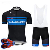 vélos de cyclisme cube achat en gros de-2019 Pro Cube Team Maillot De Cyclisme Court 9D Set Vélo Vélo Ropa Ciclismo Vêtement De Vêtement Vêtements Hommes Maillot Culotte