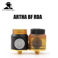 Wholesale gold pins electronic - Original Advken Artha RDA 24mm electronic cigarette Rebuildable Dripping Atomizer W  BF Pin 24K gold plated deck