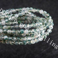 Wholesale moss balls wholesale online - 5 Strands AAAAA mm Mini Natural Genuine Botanical Moss Agate Round Stone Loose Beads Green Aquatic Agate Spacer Ball Bead Supply