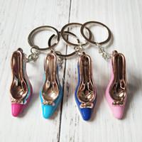 neuheit high heel schuhe großhandel-Neue Neuheit Mini High Heel Shaped Keychains Cute Shoe Keyrings für Geschenke Schlüsselanhänger Tasche Ornamente