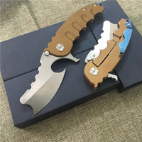 Wholesale magic blade knives - 2018 Magic Chav Custom D2 Blade ball bearing Folding Knife Camping Hunting Survival Knives Outdoor EDC Tools man of war