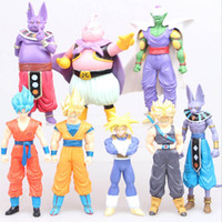 Wholesale Dragon Ball Freeza - 8 Styles Dragon Ball Z DBZ Kuririn Vegeta Trunks Freeze Son Goku SON Gohan Piccolo Freeza Beerus model Figures Toys B