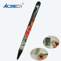 Wholesale cheap ballpoint pens - New Touch Screen Pen for iPhone or Smartphone Multi color Writing Ballpoint Pen 2 in 1 Multifunction Phone Accessory Cheap pens