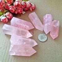 quarz rosa rock großhandel-1 stück 100% Natürliche Rock Pink Rosenquarz Kristall Stein Punkt Heilung Kristall Stein 50-60mm