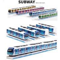 ingrosso tracce di sostegno-1:87 Magnetico tirare indietro in lega metropolitana, Metro track train, giocattoli in lega modello, commercio all'ingrosso, caldo, spedizione gratuita