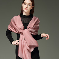 Wholesale rose cashmere - Rose Soft silk scarves scarf Comfortable Silk yarn Women Scarves Wrap Oversized Check Scarves Cashmere Scarf Winter Neckerchief Blankets