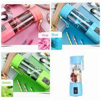 Wholesale Electric Juicers - Personal Blender Portable Blender USB Juicer Cup Electric Juicer Bottle 380ml Fruit Vegetable Tools 6 Color DDA90
