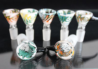Wholesale Heady Colored Glass Smoking Bowl mm mm Male Bowl with Handle Beautiful Slide for Glass Bubbler and Ash Catcher Bong Bowls