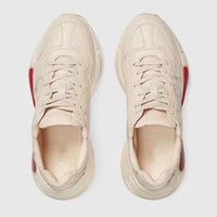 Wholesale Women Italian Shoes - 2018 Hot Sale Man Woman Italian Luxury Brand Fashion Trainers Couples Running Sneakers Unisex Genuine Leather Retro Rhyton Shoes C812